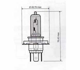 LAMPADA 12V-35W H4 BIANCA