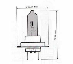 LAMPADA 12V-55W H7 EFFETTO XENON OMOLOGATE
