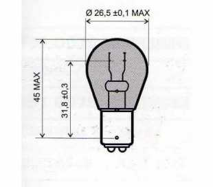 LAMPADA 12V-21/5W BAY15D BIANCA