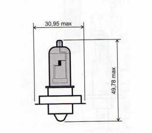 LAMPADA 12V-15W P26S ALOGENA BLU