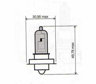 LAMPADA 12V-20W P26S ALOGENA BLU
