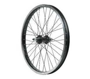 RUOTA ANTERIORE BICI BMX FREESTYLE 20 1V.FILETTO IN ALLUMINIO D.14 PERNO 10mm.
