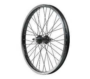 RUOTA ANTERIORE BICI BMX FREESTYLE 20 1V.FILETTO IN ALLUMINIO MOZZO ALLUMINIO D.10 PERNO 10mm.