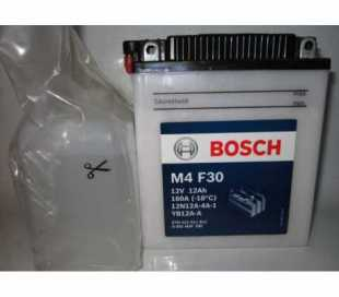 BATTERIA BOSCH YB12A-A C/ACIDO 12V 12AH DIMENSIONI (LxPxA): 136x81x162 mm.