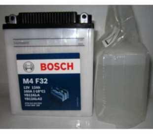 BATTERIA BOSCH YB12AL-A2 12V 12AH C/ACIDO DIMENSIONI (LxPxA):136x82x162 mm.