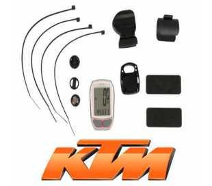 CICLOCOMPUTER KTM WIRELESS DA 7 FUNZIONI BIANCO/GRIGIO