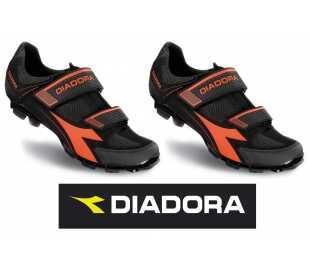 Diadora Coppia scarpe bici corsa mod. Phantom 2 bianche/rosse/nere