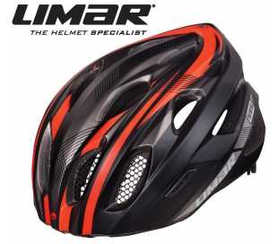 CASCO BICI LIMAR MOD.555 MATT BLACK BRIGHT RED