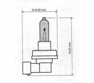 LAMPADA 12V-55W H11 OMOLOGATA