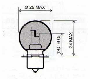 LAMPADA 12V-15W S3 P26S BIANCA