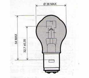 LAMPADA 12V-45/40W BA20D