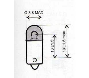 LAMPADA 6V-4W T8.5 BA9S (ATTACCO BAIONETTA)
