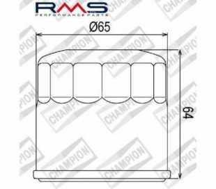 FILTRO OLIO CHAMPION COF104 HONDA SH 300 (HF204/HF951)