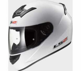 CASCO INTEGRALE LS2 ROOKIE SINGLE MONO FF352 BIANCO