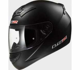 CASCO INTEGRALE LS2 ROOKIE SINGLE MONO FF352 NERO OPACO