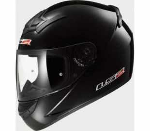 CASCO INTEGRALE LS2 ROOKIE SINGLE MONO FF352 NERO LUCIDO