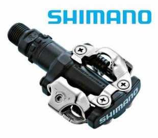 COPPIA PEDALI BICI SHIMANO M520 SPD COMPLETI DI TACCHETTE SHIMANO SM-SH51 NERI