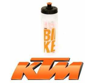BORRACCIA BICI KTM 750ml. TRASPARENTE LOGO ARANCIO
