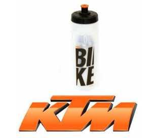 BORRACCIA BICI KTM 750ml. TRASPARENTE LOGO NERO