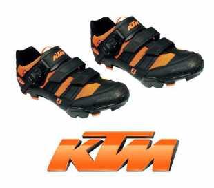 COPPIA SCARPE MTB KTM FACTORY LINE NERE/ARANCIONI