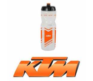 BORRACCIA BICI KTM BI TEAM 800ml. TRASPARENTE LOGO ARANCIO